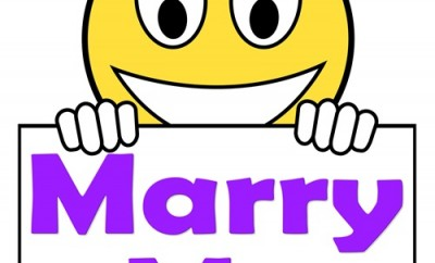 Marry Me On Sign Meaning Wedding Proposal