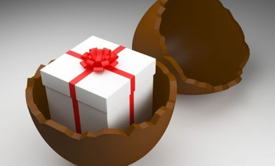Easter Egg Showing Gift Box And Presents