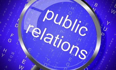 Public Relations Indicating Magnifier Magnification And Pr