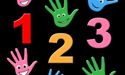 Counting Kids Showing One Two Three And Youngsters Arithmetic